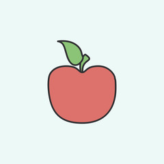 an Apple sketch icon. Element of education icon for mobile concept and web apps. Field outline an Apple sketch icon can be used for web and mobile
