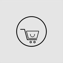 shopping icon logo design