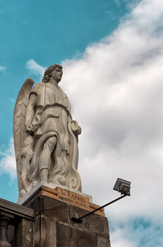 Statue of the Archangel Rafael  in Mexico City