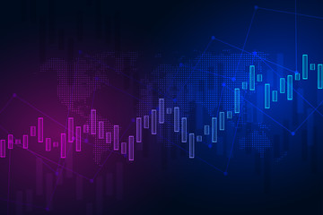 Stock exchange chart market investment trading. Trading platform. Business graph. Vector Illustration