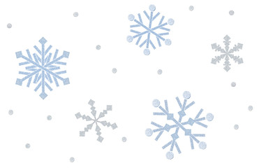 Snowflake paper cut on white background - isolated