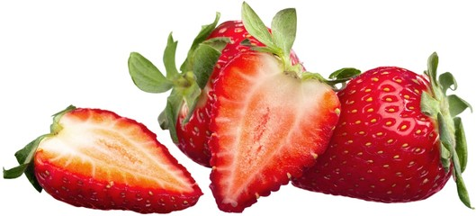 Fresh and Tasty Strawberries - Isolated