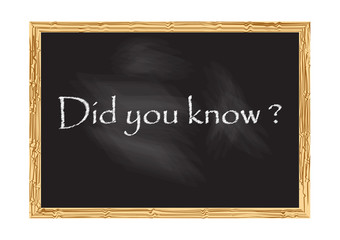 Did you know blackboard Vector illustration for design