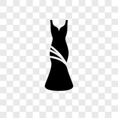 Dress vector icon isolated on transparent background, Dress logo design