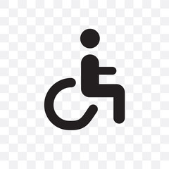 Handicap vector icon isolated on transparent background, Handicap logo design