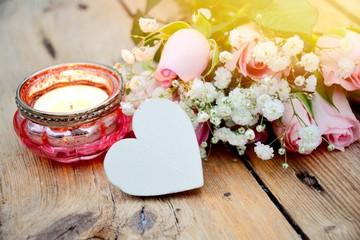 Blumenstrauß - Rosenstrauß mit Herz