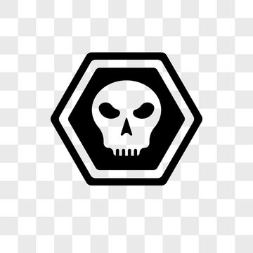Death vector icon isolated on transparent background, Death logo design