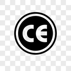 European Conformity vector icon isolated on transparent background, European Conformity logo design