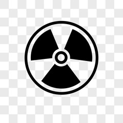 Radioactive vector icon isolated on transparent background, Radioactive logo design