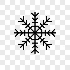 Snowflake vector icon isolated on transparent background, Snowflake logo design