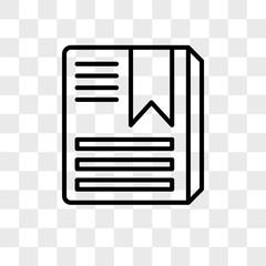 Album vector icon isolated on transparent background, Album logo design