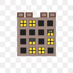 buildings icon on transparent background. Modern icons vector illustration. Trendy buildings icons