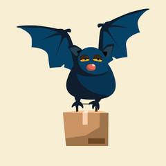 bat delivery vector illustration