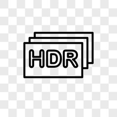 Hdr vector icon isolated on transparent background, Hdr logo design