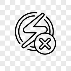 Flash vector icon isolated on transparent background, Flash logo design