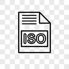 Iso vector icon isolated on transparent background, Iso logo design
