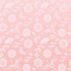 桃色 春節 背景 鶴