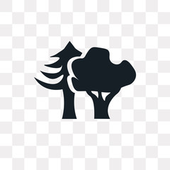 Woods vector icon isolated on transparent background, Woods logo design