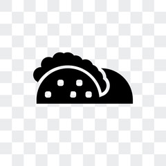 taco icon isolated on transparent background. Modern and editable taco icon. Simple icons vector illustration.