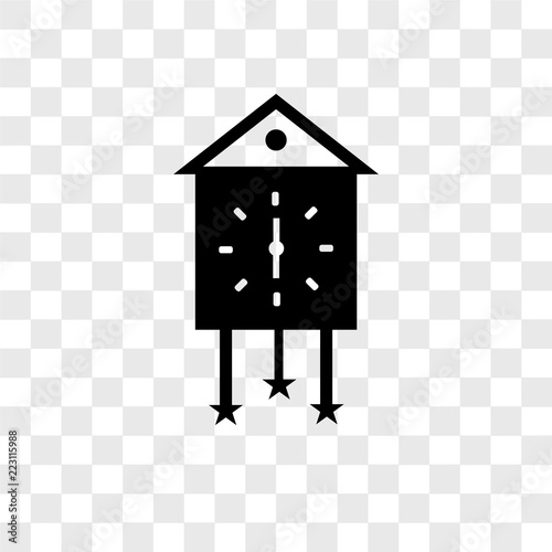cuckoo clock icons isolated on transparent background