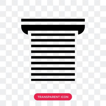 Roller Shutter Door vector icon isolated on transparent background, Roller Shutter Door logo design