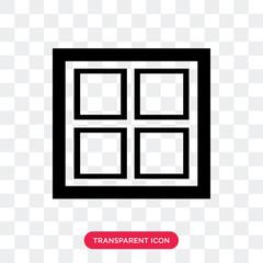 Window vector icon isolated on transparent background, Window logo design