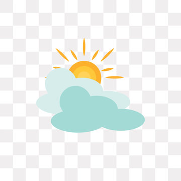 cloudy icon on transparent background. Modern icons vector illustration. Trendy cloudy icons