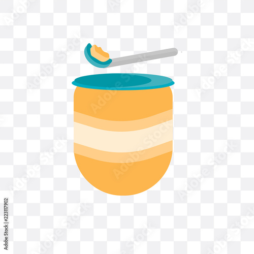 baby food icon isolated on transparent background  Simple