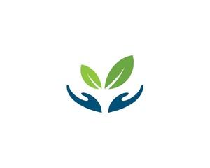 Green care logo vector