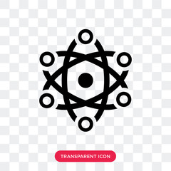 Nuclear vector icon isolated on transparent background, Nuclear logo design