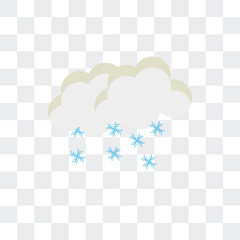 Snow vector icon isolated on transparent background, Snow logo design