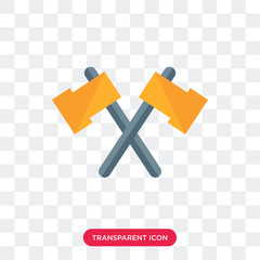 Axes vector icon isolated on transparent background, Axes logo design