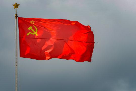 ussr flag backgraund