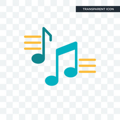 Musical note vector icon isolated on transparent background, Musical note logo design