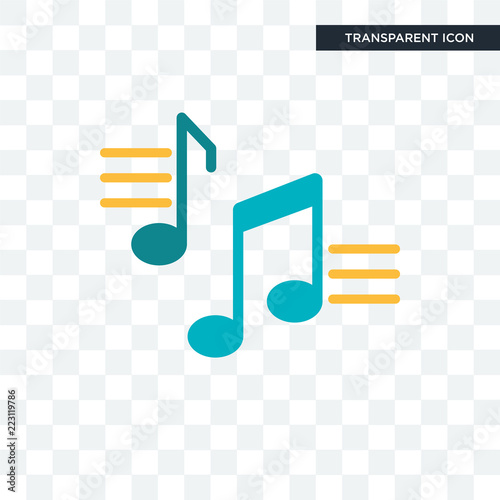 Musical Note Vector Icon Isolated On Transparent Background Musical