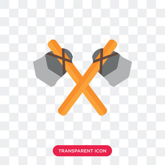 Axe vector icon isolated on transparent background, Axe logo design