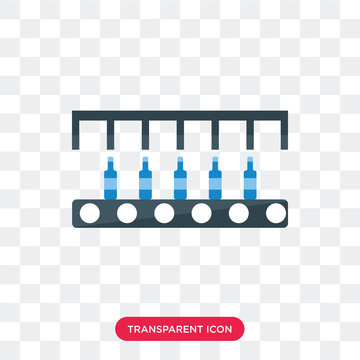 Conveyor vector icon isolated on transparent background, Conveyor logo design