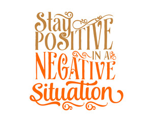 positive negative words sentence typography typographic writing script image vector icon symbol