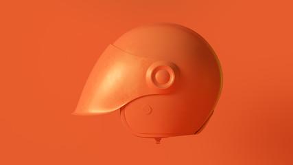 Orange Helmet 3d illustration 3d render