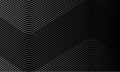 Vector Illustration of the pattern of white lines on black background. EPS10.