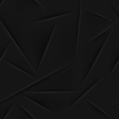 Abstract seamless pattern in black colors