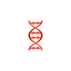 DNA molecule sign, genetic elements and icon strand. Vector