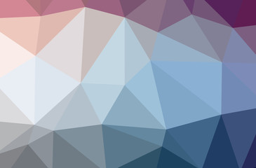 Illustration of blue low poly beautiful multicolor background.