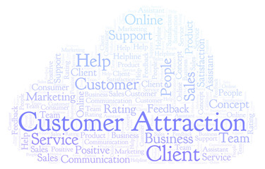 Customer Attraction word cloud.