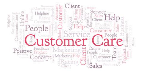Customer Care word cloud.