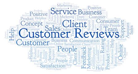 Customer Reviews word cloud.
