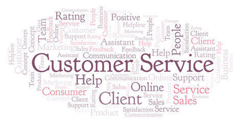 Customer Service word cloud.