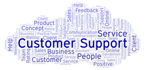 Customer Support word cloud.