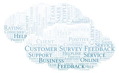 Customer Survey Feedback word cloud.