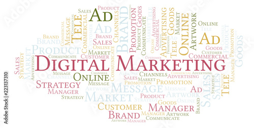Word cloud with text Digital Marketing